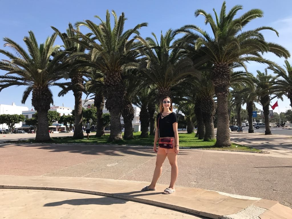 agadir palmtrees walk morocco